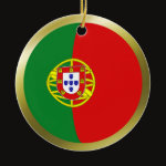 Portugal Fisheye Flag Ornament