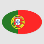 Portugal* Flag Oval Sticker