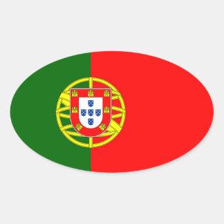 Portugal* Flag Oval Sticker