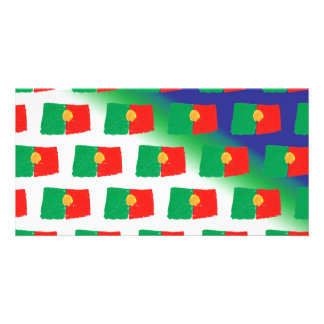 Portugal flag pattern card