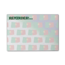 Portugal flag pattern post-it notes