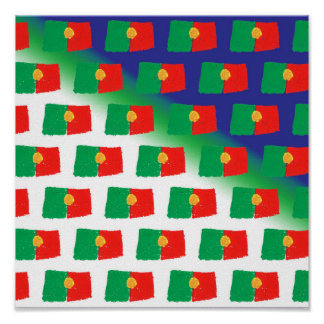 Portugal flag pattern poster