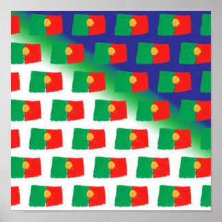 Portugal flag pattern poster