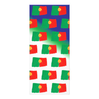Portugal flag pattern rack card