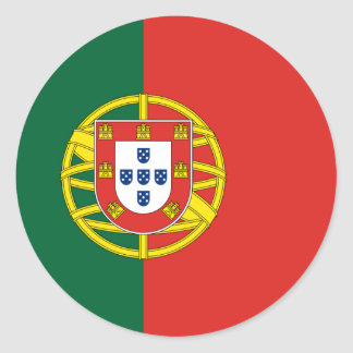 Portugal Flag Round Stickers (pack)