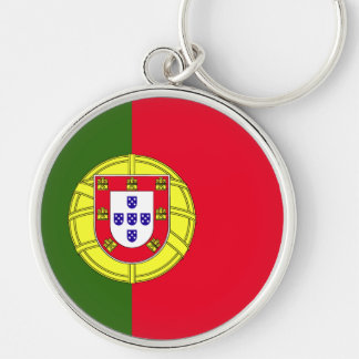Portugal Flag Silver-Colored Round Keychain
