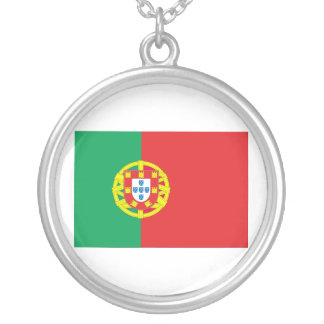 Portugal Flag Silver Plated Necklace