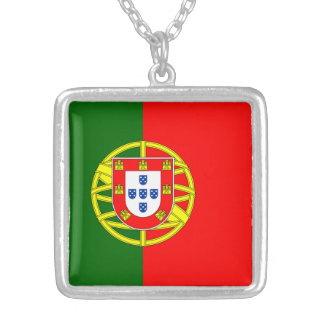 Portugal Flag Sterling Silver Plated Necklace