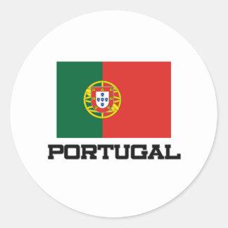 Portugal Flag Round Sticker