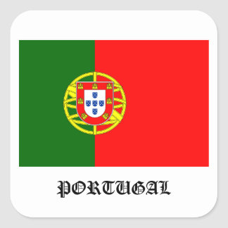 Portugal flag square sticker