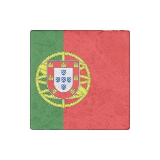 Portugal Flag Stone Magnet