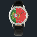 """Portugal Flag Watch<br><div class=""""desc"""">Watch contains Portugal flag,  the &quot;Portugal&quot; text and the Watch style can be modified to fit your needs. if you need help for a customization feel free to contact me.</div>"""