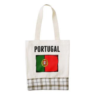 Portugal Flag Zazzle HEART Tote Bag