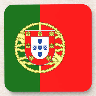 Portugal flage design beverage coaster