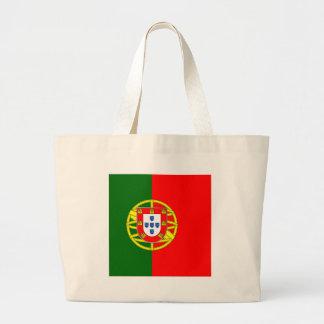 Portugal flage design large tote bag