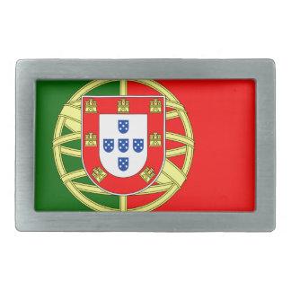 Portugal flage design rectangular belt buckle