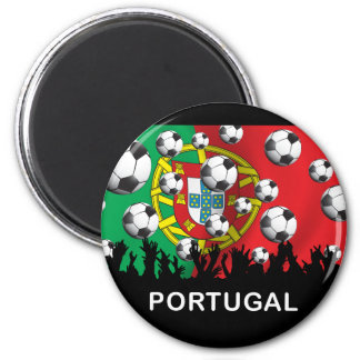Portugal Football 2 Inch Round Magnet