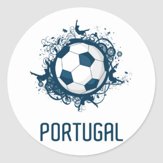 Portugal Football Classic Round Sticker