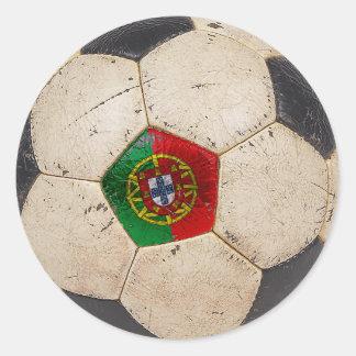 Portugal Football Classic Round Sticker