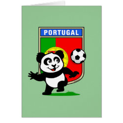 Greeting Card with Portugal Football Panda design