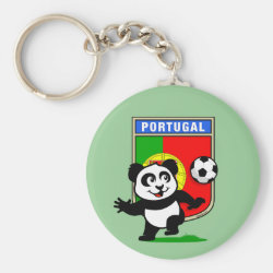 Basic Button Keychain with Portugal Football Panda design