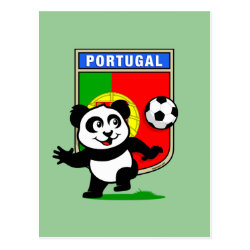 Postcard with Portugal Football Panda design