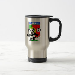 Travel / Commuter Mug with Portugal Football Panda design