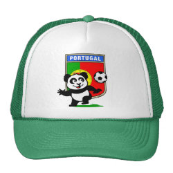 Trucker Hat with Portugal Football Panda design