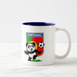 Two-Tone Mug with Portugal Football Panda design