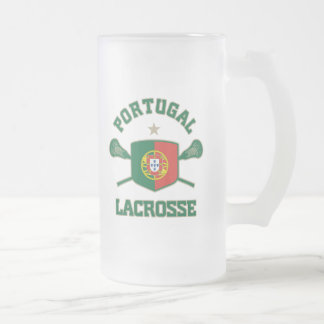 Portugal Frosted Glass Beer Mug