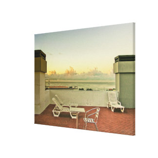 Portugal Funchal Rooftop Sunrise Wrapped Canvas