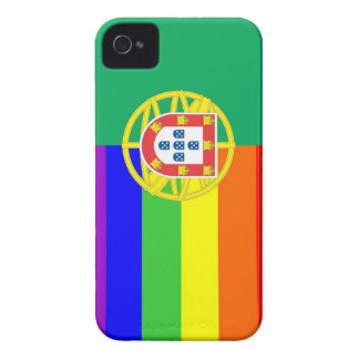 portugal gay proud rainbow flag homosexual Case-Mate iPhone 4 case