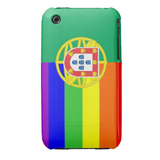 portugal gay proud rainbow flag homosexual iPhone 3 case