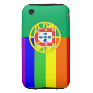 portugal gay proud rainbow flag homosexual tough iPhone 3 cover