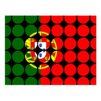 Portugal Girly Chic : Polka Dot Portuguese Flag Postcard