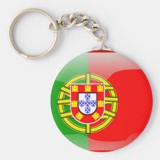 Portugal glossy flag keychain