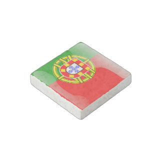 Portugal glossy flag stone magnet