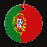 Portugal Gnarly Flag Ceramic Ornament