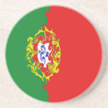 Portugal Gnarly Flag Drink Coaster