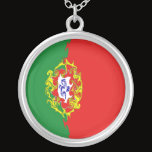 Portugal Gnarly Flag Silver Plated Necklace