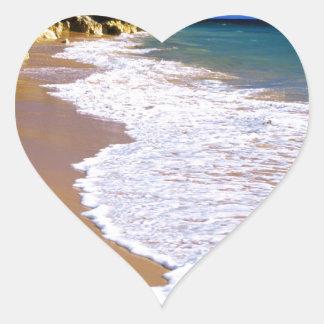 Portugal golden beach heart sticker