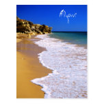 Portugal golden beach postcard