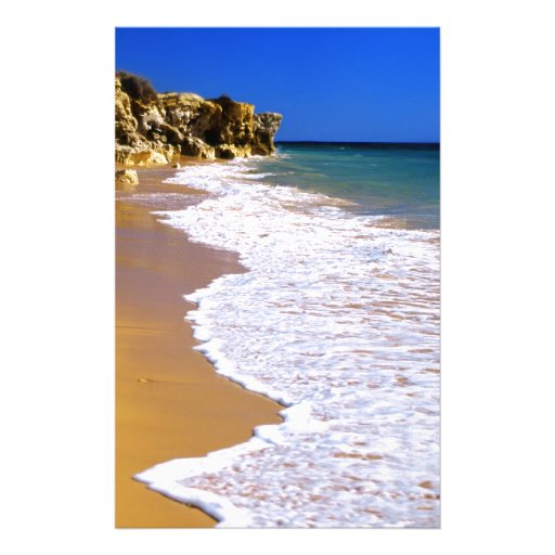 Portugal golden beach stationery paper