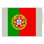 Portugal High quality Flag Greeting Card