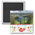 Portugal in photos - Azores lagoon Refrigerator Magnets