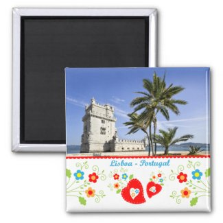 Portugal in photos - Belém Tower Refrigerator Magnets