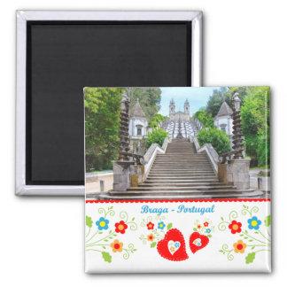 Portugal in photos - Braga 2 Inch Square Magnet