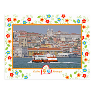 Portugal in photos - Lisbon from the river Postcard