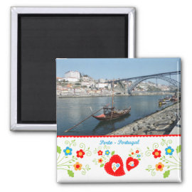 Portugal in photos - Oporto by the river Magnet