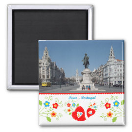 Portugal in photos - Oporto city Fridge Magnet